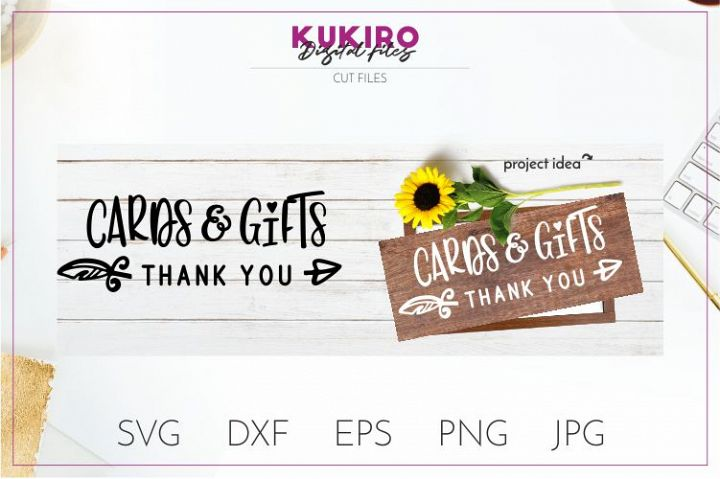 Cards and gifts SVG Thank you SVG - Wedding cut file