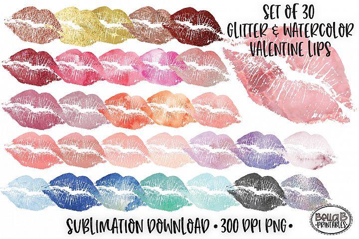 Valentines Sublimation, Valentine Lips Bundle, Elements