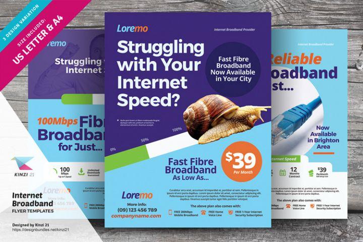 Internet Broadband Flyer Templates