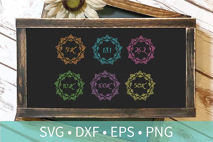 Mandala Runner Distances SVG DXF EPS PNG Clipart Cut File