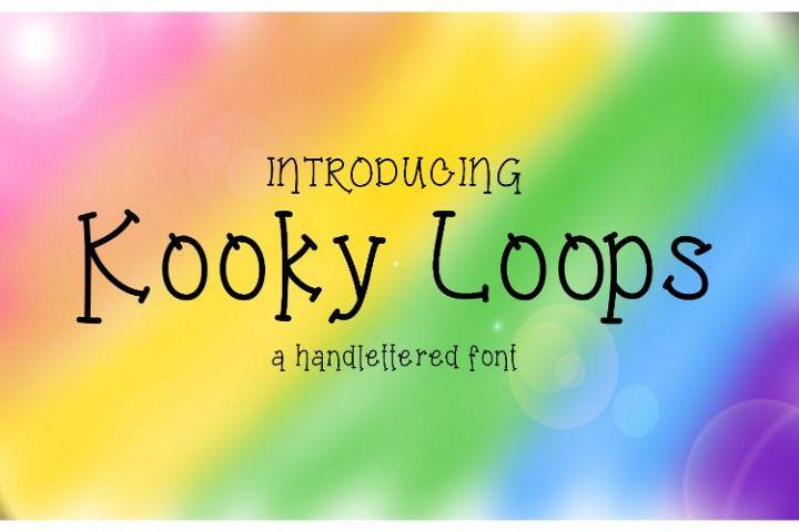 Kooky Loops Handlettered Font