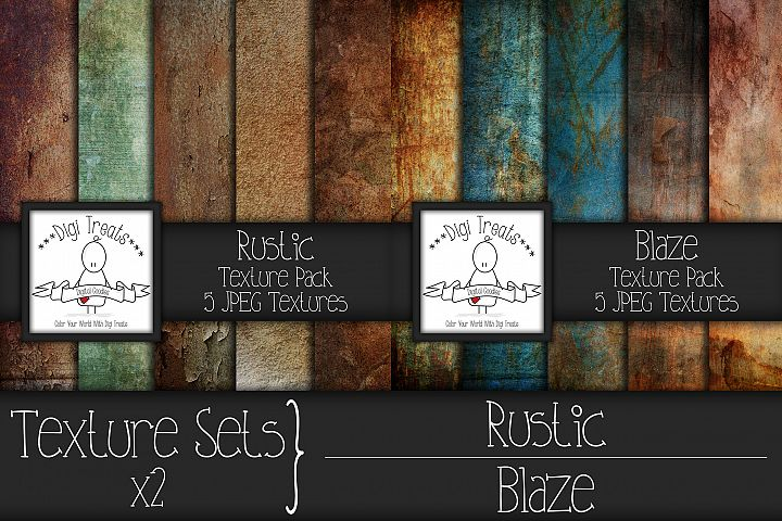 Texture Sets x2. Rustic and Blaze.