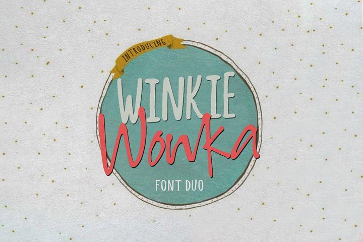 Winkie Wonka Font Duo