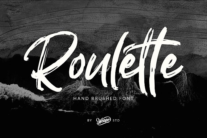 Roulette - Hand Brushed Font