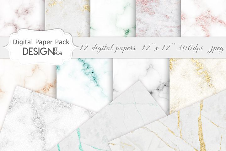 Marble Digital Paper Pack, Marble Texture, marble background