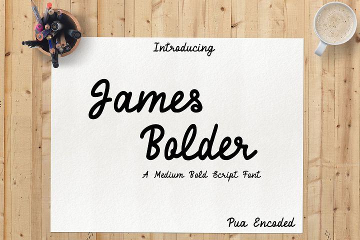 James Bolder Script Font