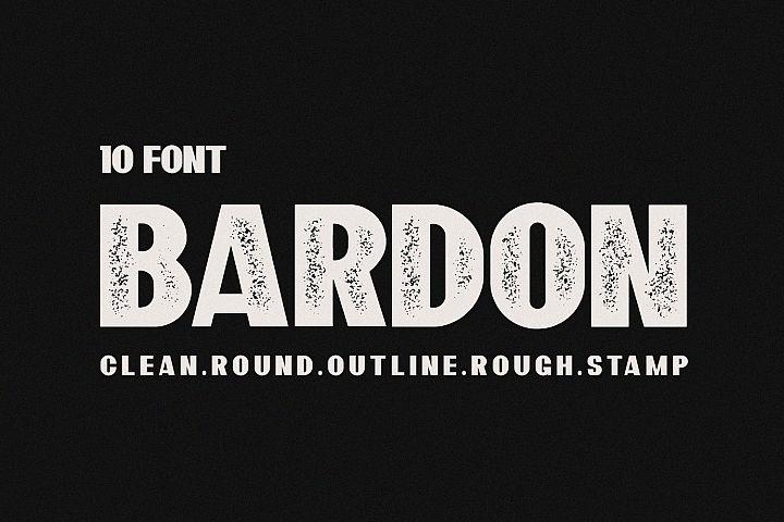 10 Font - Bardon Font Family