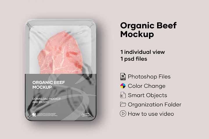 Organic Beef Mockup