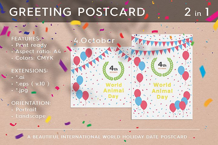 World Animal Day - October 04