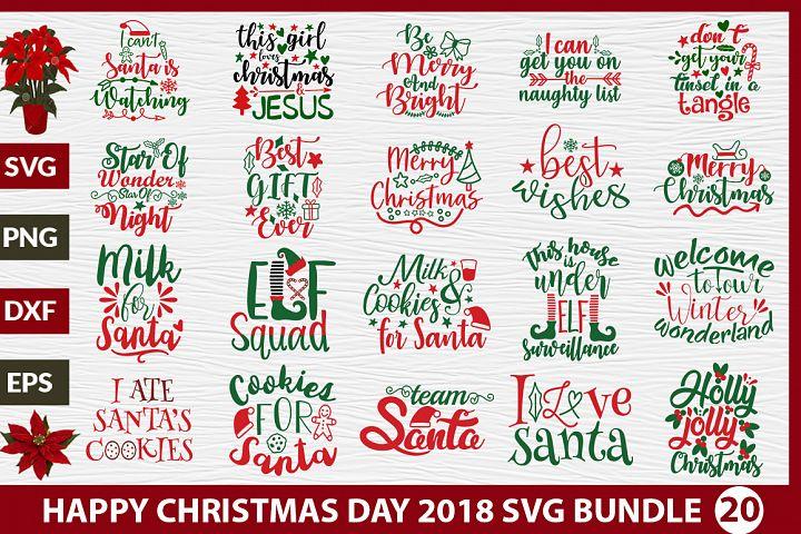 Happy Christmas Day SVG Design Bundle