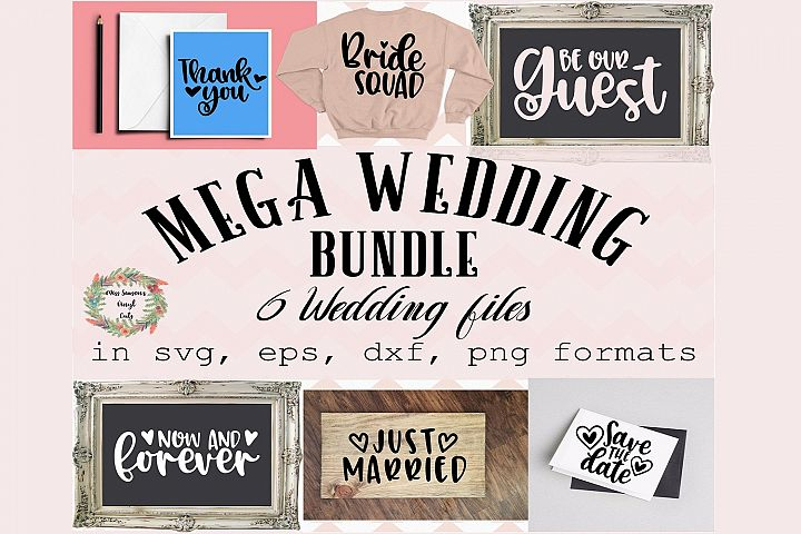 Wedding Bundle SVG Engagement SVG, DXF, Eps, Png Wedding
