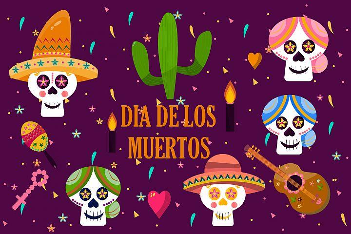 Dia de los muertos clipart, Day of the dead, Halloween