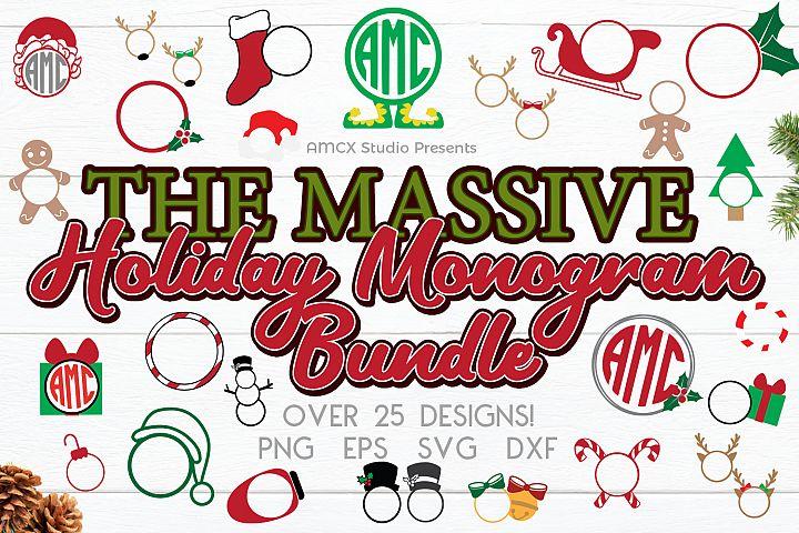 Holiday Monogram Monogram Bundle - 29 Designs