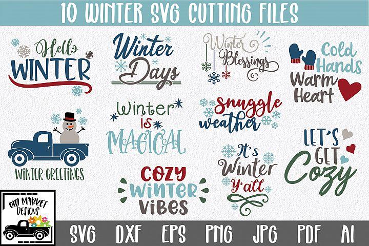 Winter SVG Cut File Bundle