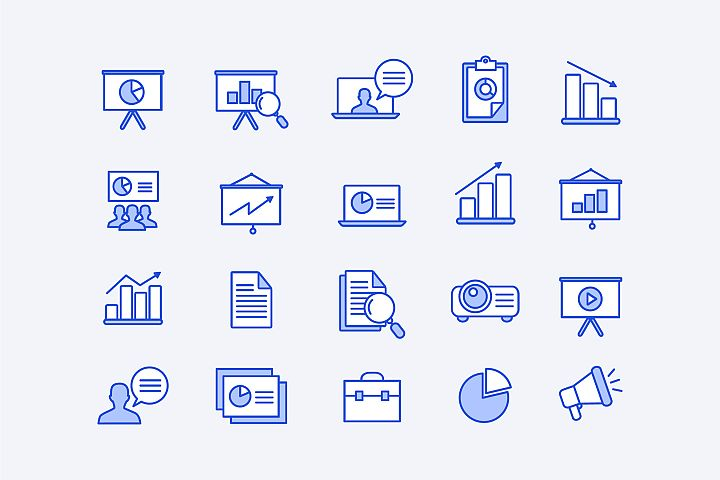 Blue Corporate Icons