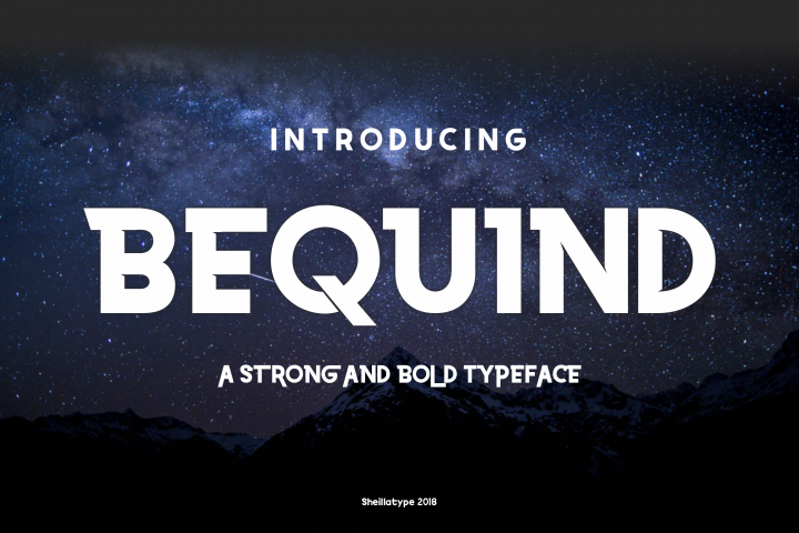 BEQUIND MODERN CLEAN AND BOLD DIDPLAY FONT