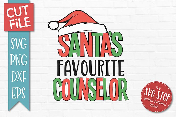 Santas Favourite Counselor Christmas SVG, PNG, DXF, EPS