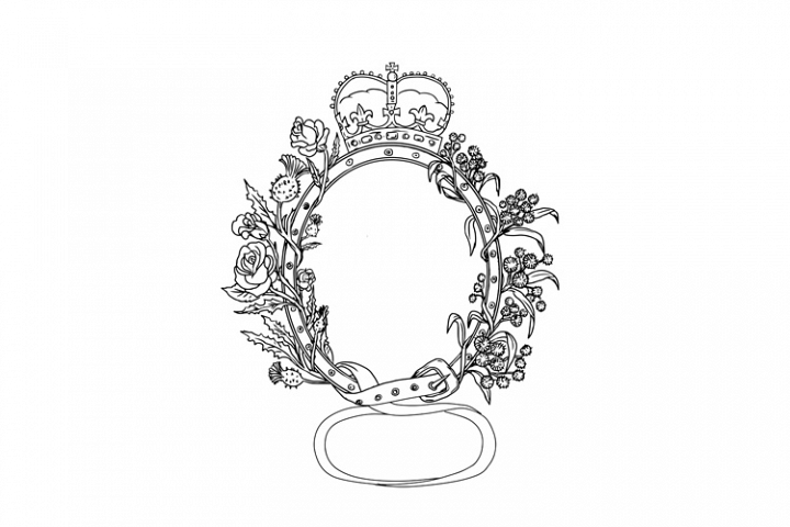 Celtic Belt With Rose and Thistle Drawing