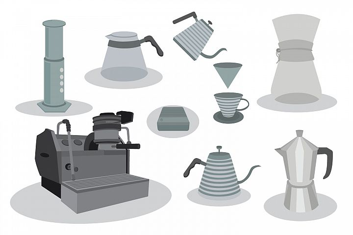 coffee maker vector bundles