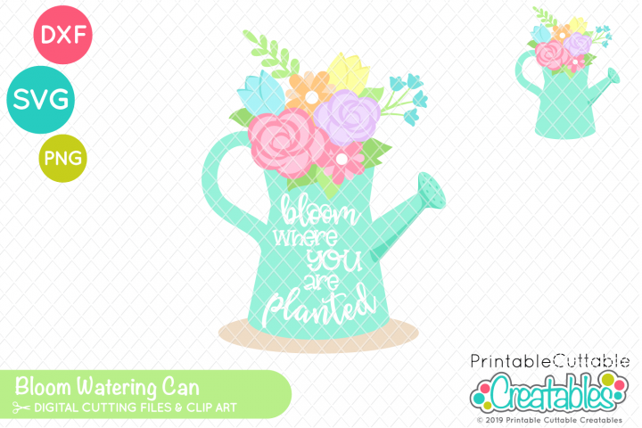 Bloom Watering Can SVG