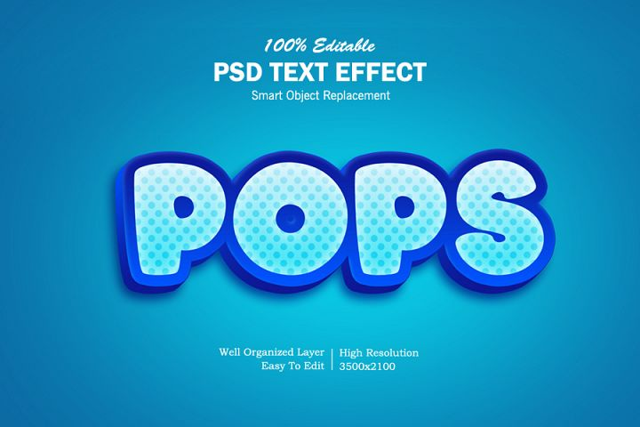 Pops 3D Text Effects