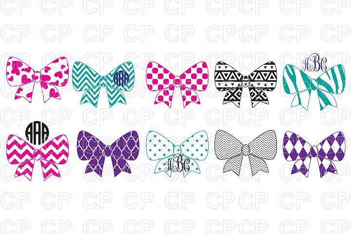 Pattern Bow Bundle SVG Cut Files, Pattern Bow Clipart