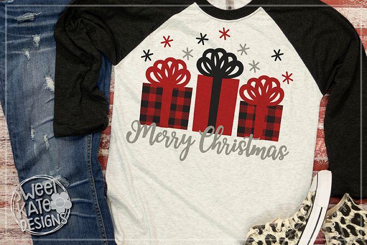 Buffalo Plaid Merry Christmas Presents SVG DXF EPS PNG JPG