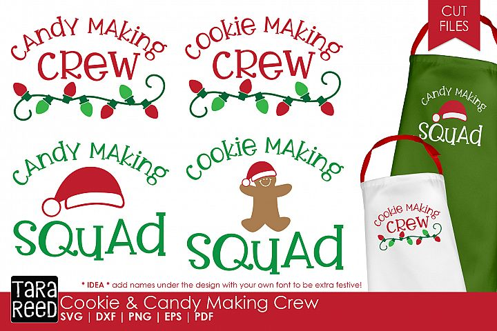 Christmas Cookie and Candy Making Crew - SVG & Cut Files