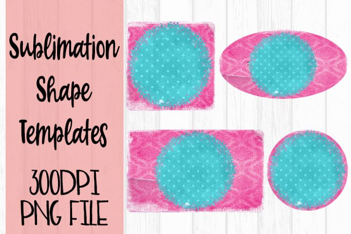 Pink and Turquoise Sublimation Templates