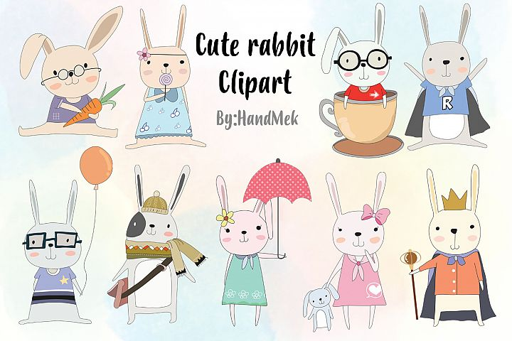 Cute rabbit Clipart