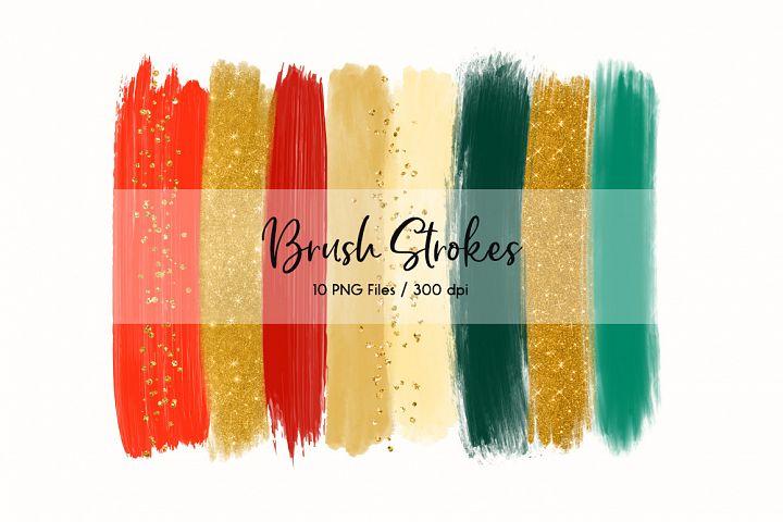 Brush Strokes Clip Art (Christmas)