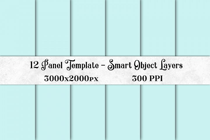 12 Panel Template with Smart Object Layers