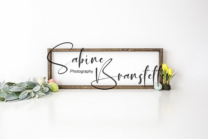 Styled Stock Photo Rustic Horizontal Wood Sign Easter Mockup