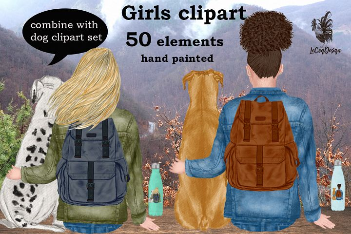 Girls clipart, Best Friend clipart,Planner Girls, Mug Design