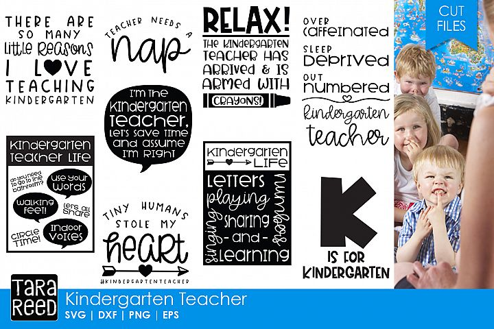 Kindergarten Teacher - Teacher SVG files 4 Crafters