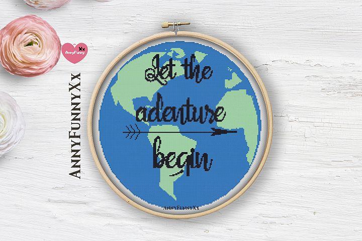 Let the adventure begin Cross stitch Pattern Pdf