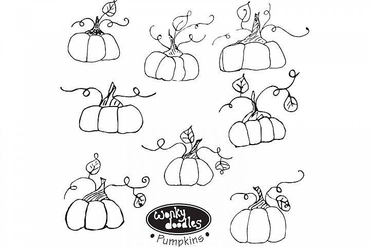 Wonky Doodles Pumpkins