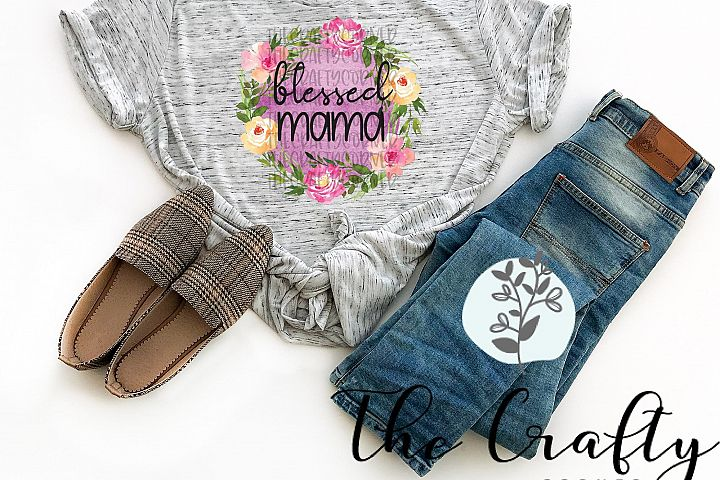 Blessed Mama Sublimation Design