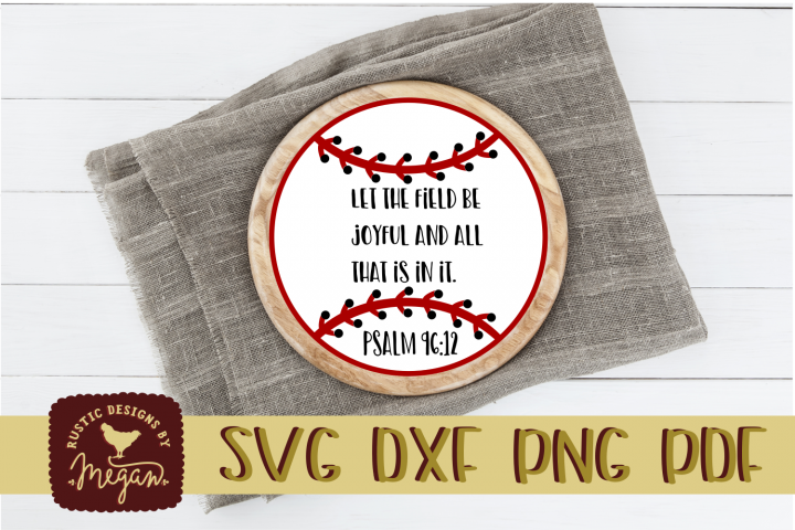 PSALM religious Baseball Softball Quote SVG DXF