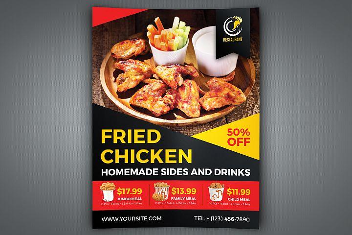 Fried Chicken Restaurant Flyer Template