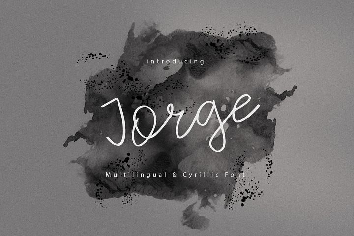 Jorge | Multilingual Cyrillic Font