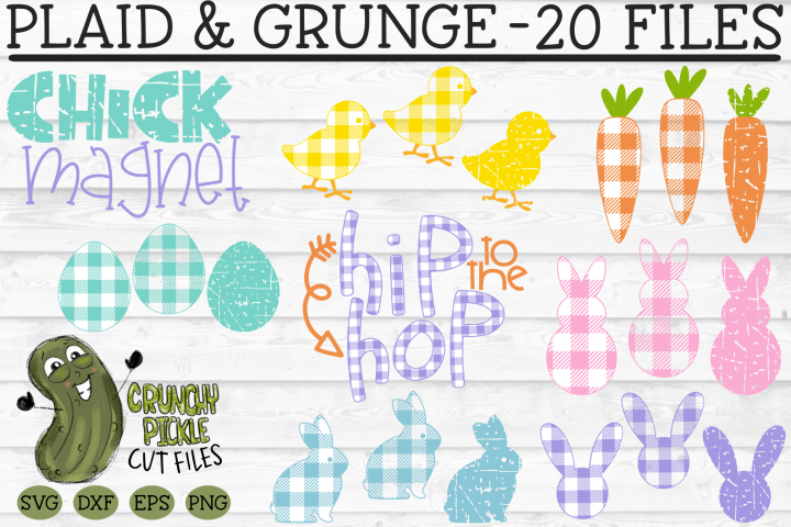 Plaid & Grunge Easter / Spring SVG Cut File Bundle