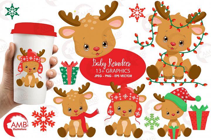Santas Baby Reindeer clipart, graphics, illustrations AMB-2288