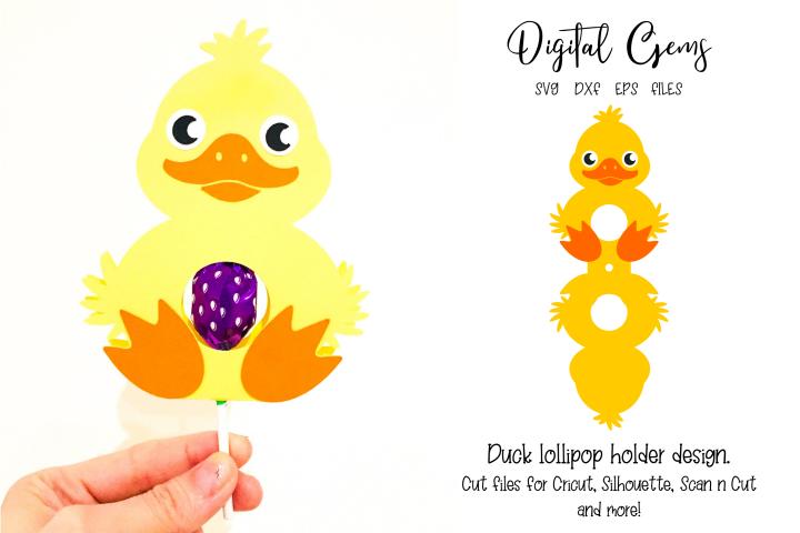 Duck lollipop holder design SVG / DXF / EPS files
