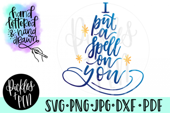 witchy svg - i put a spell on you - witch hat svg