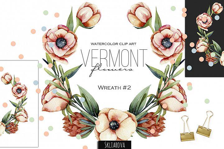 Vermont flowers. Wreath#2