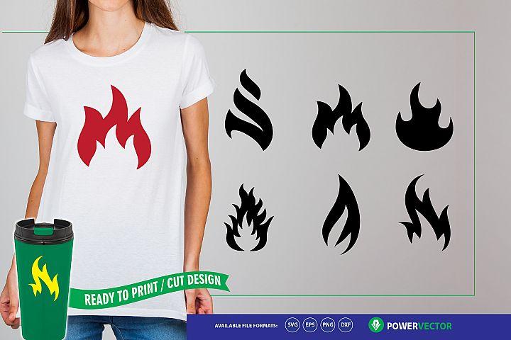 Flames SVG Cut Files for Silhouette & Cricut