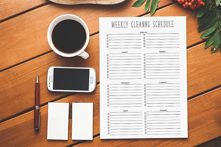 Cleaning Schedule, Cleaning Checklist, House Cleaning List