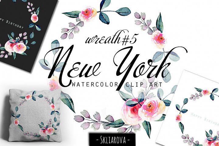 New York. Rose wreath #5