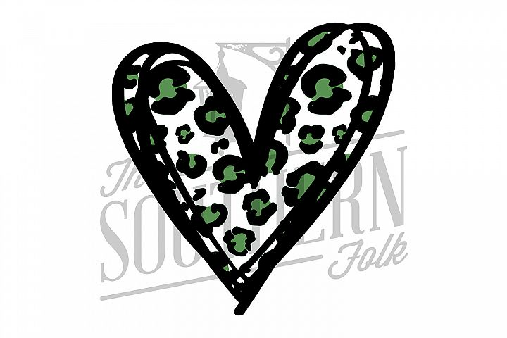 Cheetah Heart PNG File - Sublimation Design
